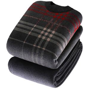 中老年人保暖內衣男加絨加厚套裝中高領加大碼可外穿爸爸裝秋冬季