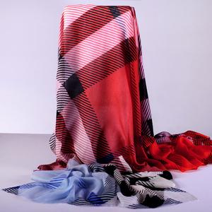 羚羊早安2019秋冬季百搭纯羊毛围巾男女通用围脖红色披肩韦巾国脖