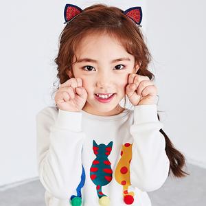 儿童猫耳朵卖萌发夹子韩国可爱女童发饰宝宝拍照立体卡通配饰一对