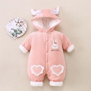 嬰兒衣服秋冬嬰兒連體衣加厚嬰兒服裝嬰幼兒爬服一件代發改