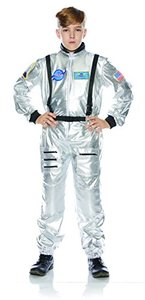 Underwraps Astronaut Silver Child Space Explorer Costume安德