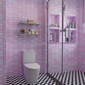 。衛生間防水牆紙自粘廚房防油貼紙洗手間浴室自貼貼紙陽台壁紙牆