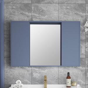 浴室鏡柜掛墻式衛生間置物架帶燈智能浴室單獨實木隱藏式風水鏡子
