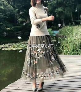 维格娜丝2018冬新款VGRASS国内专柜正品代购劲草半身裙VSBQJ40230