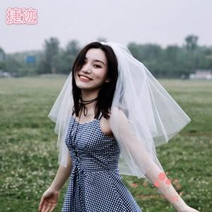网红头纱超闪拍照ins少女新娘结婚韩式旅拍简?#32423;?#27454;头饰