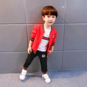 儿童装外套装1周岁2到3岁半4宝宝男童秋装男孩薄款夏装春秋天衣服