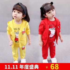 女童装儿童女孩衣服女宝宝春装套装夏女婴1周岁半秋2到3岁多小孩4