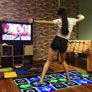 減肥跳舞機智能電視電腦兩用跳舞毯雙人九宮格跑步游戲墊子家里。
