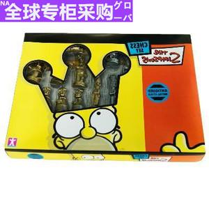 日本 金银色辛普森国际象棋玩家收藏品卡通人物象棋儿童节日暑假