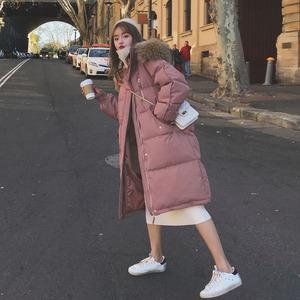 棉服女中长款2019冬季新款韩版ins宽松港风棉衣bf羽绒棉袄外套潮