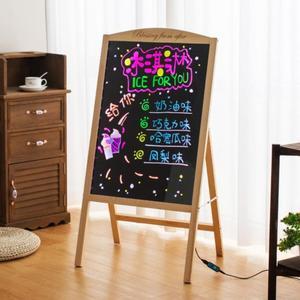 荧光板发光小黑板装饰发光字电子奶茶店创意店铺牌广告板写字板