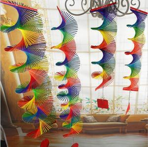 竹风转幼儿园装饰工艺礼品挂件走廊过道暖场风铃挂饰隔断门帘跨境
