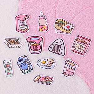 韩国ins少女风手账相册装饰贴纸零食饮料卡片笔记本日记手机贴画
