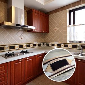 创意厨房卫生间瓷砖贴纸腰线欧式客厅浴?#26131;?#39280;踢脚线贴画墙贴防水