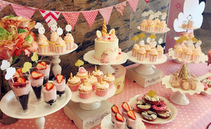 {怡号工坊}定制纸杯蛋糕婚礼宝宝满月百天周岁生日宴茶歇甜品台图片
