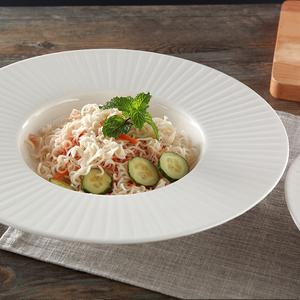法式出口西式餐具牛排盘盘子创意陶瓷盘子草帽碗意面盘西餐深盘子