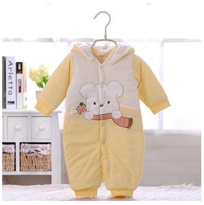 心適BB嬰幼兒夾棉連帽保暖開襠哈衣 寶寶連體衣棉衣爬服斷碼處理