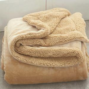 小毛毯被子雙層加厚保暖單人女辦公室沙發蓋腿午睡冬季珊瑚絨毯子