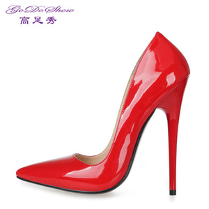 14cm黑色高跟鞋细跟性感