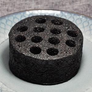 点心糕点小吃手工传统早餐地方特色黑色煤球蛋糕蜂窝煤蛋糕黑米味