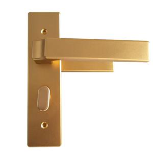 室內門窗開門平雙衛浴鎖香檳色鋼木門鎖開門鋁合金門鎖帶執把手