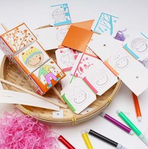 四季转换衣服涂色作品幼儿园儿童手工diy制作材料包益智创意玩具