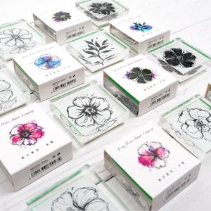 陌境 春花夏語 系列亞克力印章 植物花朵手賬裝飾diy學生手帳印章