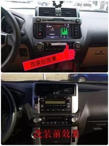 10-13款普拉多霸道升级新款原车CD导航老款改新款原厂JBL导航中控