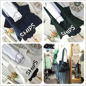 韓國訂單DOOTA十字紋棉麻質字母休閑單肩手拎挎包軟布包布袋