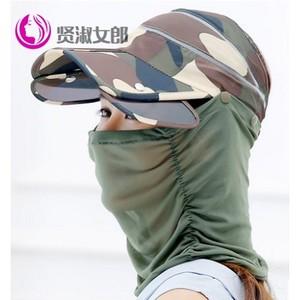 沙漠帽子男防晒户外骑车防晒女夏遮脸徒步防沙旅游用品装备遮阳