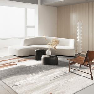 北歐輕奢大面積地毯客廳茶幾地墊臥室地毯簡約現代歐式地墊易打理