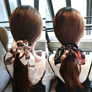 头饰品韩国大肠发圈发绳蝴蝶结皮筋发饰头花盘发成人扎头发女头绳