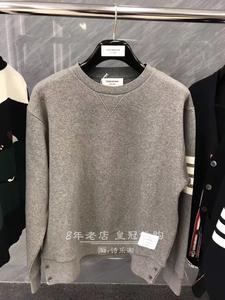日本代购Thom Browne冬季运动经典款休闲男 女情侣TB圆领套头卫衣