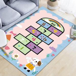 兒童卡通跳房子地毯臥室滿鋪床邊毯幼兒園早教寶寶爬行墊水洗地墊