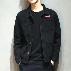 牛仔外套男秋季韩版潮流上衣2019新款潮牌工装夹克男士休闲牛仔衣