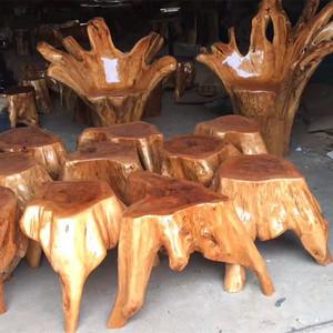 根雕树根凳子实木墩子树墩原木树桩木桩树根底座茶几凳坐墩花架