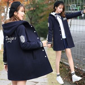 18秋冬14少女裝13初中生15高中學生加厚外套16歲女孩韓版加棉衛衣