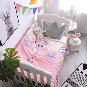 儿童小床全套被子空调被1.2m纯棉幼儿园午睡专用被褥薄款夏凉被