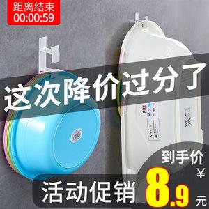 免打孔臉盆收納架浴室盆架掛鉤廁所置物架衛生間洗臉盆子壁掛浴盆