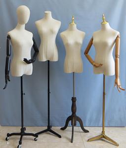 模特道具女半身韩版 服装店橱窗展示衣架包布人台带头 金属方板脚