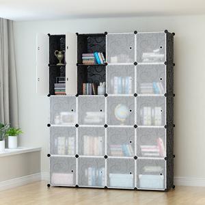 简易衣柜现代简约树脂成人钢架折叠组装布艺衣橱实木组合收纳柜子