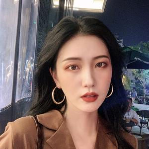 金色網紅圓圈圈復古大耳環女氣質冷淡歐美風夸張耳圈韓國時尚耳飾