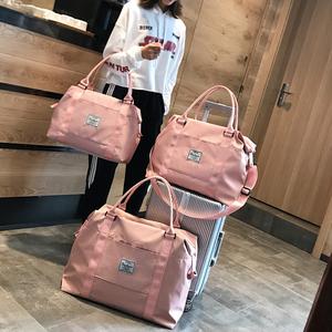 网红旅行包女手提行李袋女韩版大容量可爱小短途轻便防水学生潮包