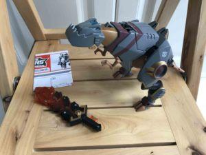 变形金刚 08动画 V级 恐龙 钢索 全配无损 正版美版