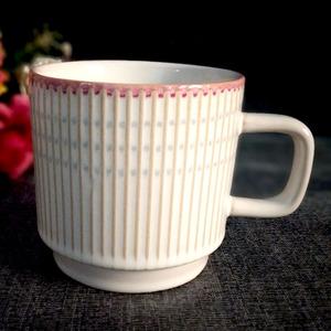 創意陶瓷馬克杯外貿出口歐美咖啡杯復古浮雕牛奶杯早餐杯家用茶杯