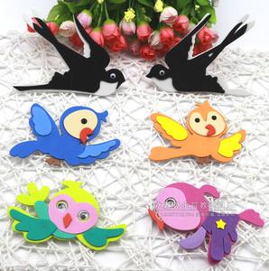 幼儿园装饰 教室环境布置 泡沫燕子小鸟 海绵纸鸟墙贴 立体装饰贴