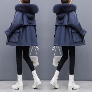 外贸出口尾单女装剪标尾货牛货外单大牌中长白鸭绒加厚工装羽绒服