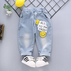男童裤子秋款 小童1-2-3-4-5岁儿童牛仔裤软宝宝卡通春秋休闲长裤