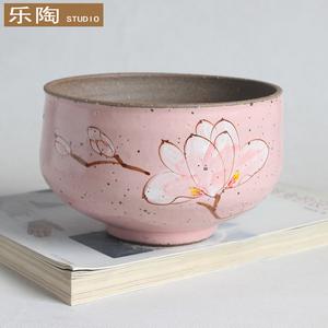 多肉手绘花盆韩国多肉植物花盆复古创意花盆粗陶罐花盆陶瓷