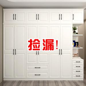 衣柜簡約現代經濟型組裝柜子實木板式臥室家用五門六門兒童大衣櫥